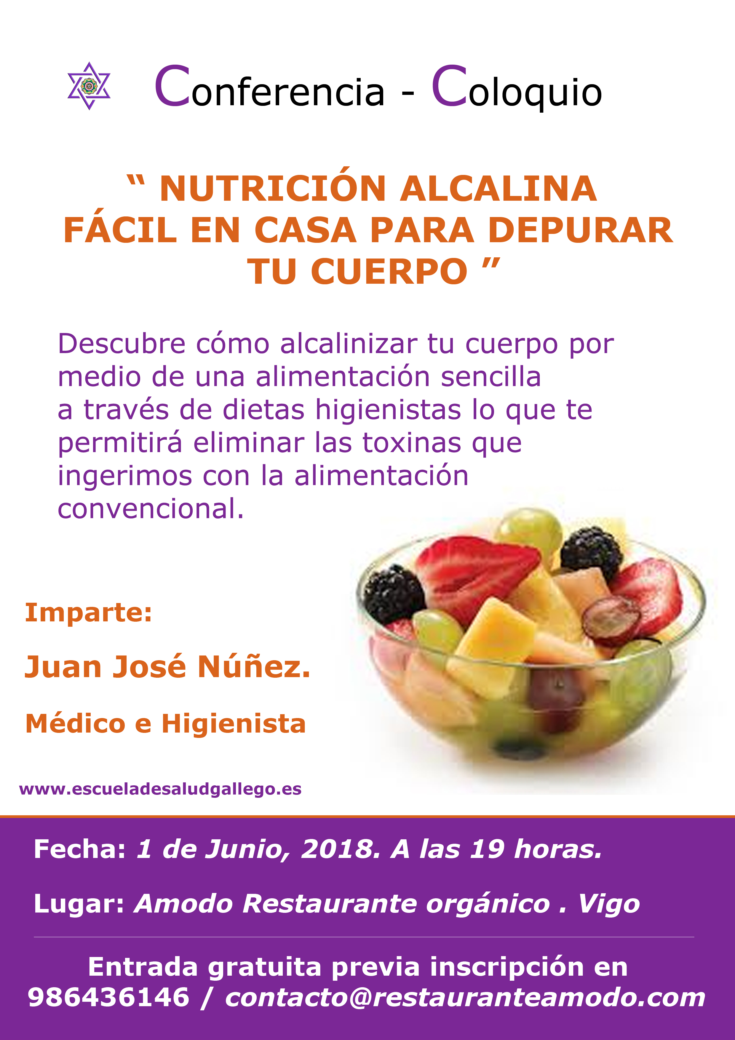 "Conferencia – Coloquio ""Nutrición Alcalina"""