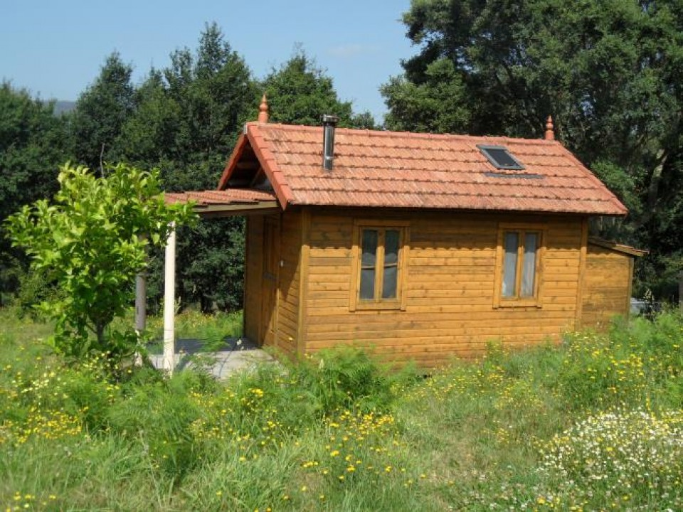 Casa de reposo : cabaña de madera ecológica