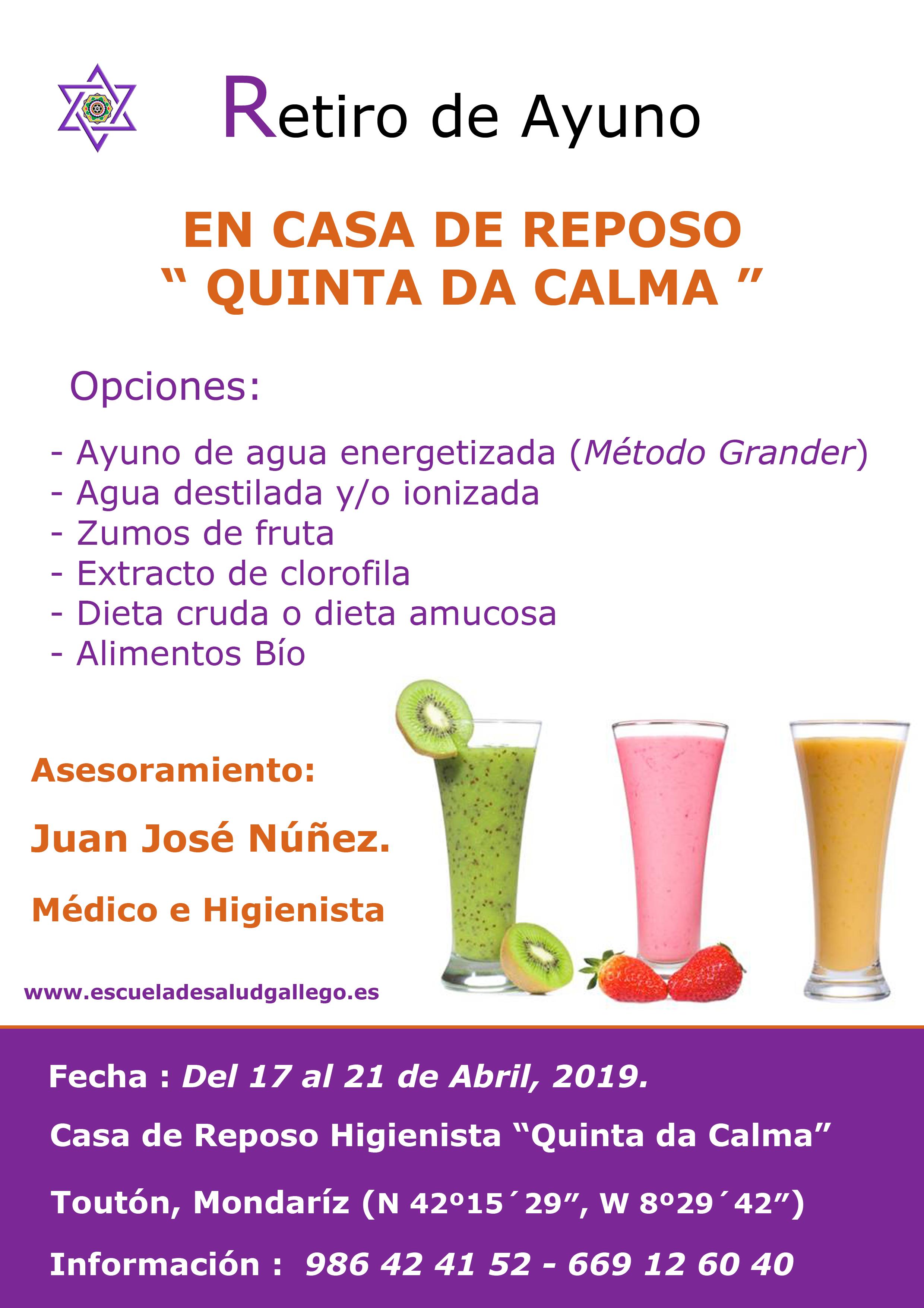 Retiro de Ayuno – Abril 2019