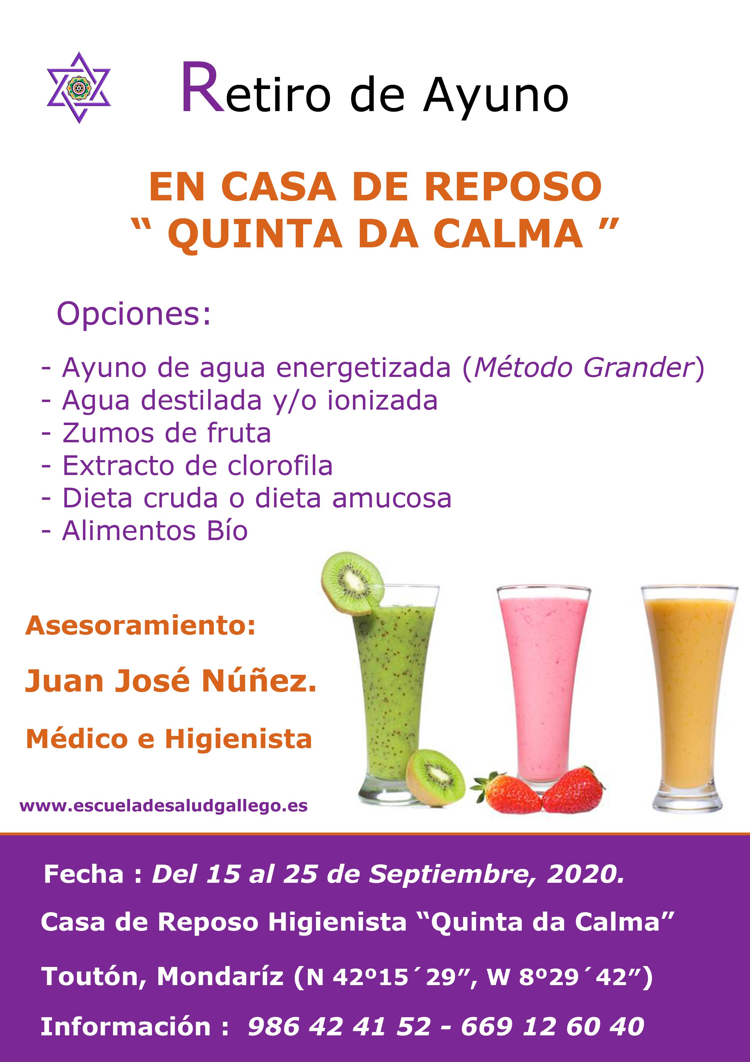 Retiro de Ayuno – Septiembre 2020